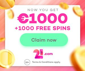 Latest bonus from 21com Casino